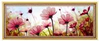 free shipping DIY  printed cross stitch kit romantic pink flower painting  3D-HC007cross-stitch  flower