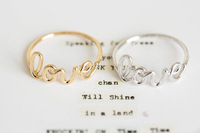Hot Fashion Exquisite Alloy Love Letters Rings,Fashion ring friendship ring cute rings