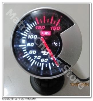 2,5 polegadas do Medidor de Temperatura do óleo 60MM , temperatura do óleo , fumaça preta Estilo da Face , Medidor de carro, medidor de carro, Sensor Incluir e Wires(China (Mainland))