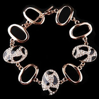 Min.order is $10(mix order) fashion accessories pinto vintage full rhinestone cutout bracelet female 2071