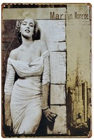 Sexy Marilyn Monroe Tin Sign ART Metal Poster 20x30cm Wall Decoration For BAR CLUB SHOP HOME FREE SHIPPING