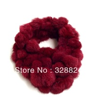 2013 New women's handmade real rabbit fur soft warm Square wrap scarf