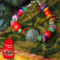 [LYNETTE'S CHINOISERIE - GUDUO ] National accessories handmade diy tibet accessories color stone bracelet 13024