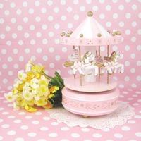 Birthday gift wool music box music box music box wood craft