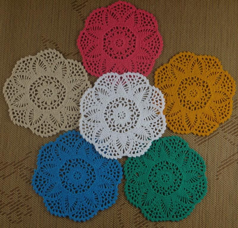 Crochet Flower Doily Patterns : Aliexpress.com : Buy Free Shipping Each Design 20PCS Heart ...