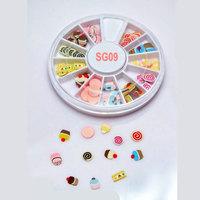 6 Wheels per Lot Nail Art Tip Fimo Decoration Slice, Color Ice cream Polymer Slice ,Nail Design Ceramic Slice with Free Ship