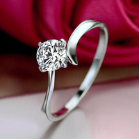 zirconium diamond ring jewelry blessings Switzerland 50 points diamond ring wedding ring female KA325