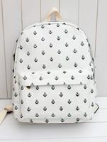 Japanese style boat Mao printing backpack fresh forest schoolbag unisex shoulder bag  lovely student schoolbag