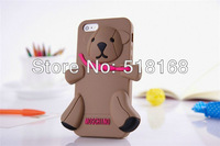 Hot Sale! High Quality 3D Bear Silicon Soft Back Case For Apple iPhone5+Retail Box
