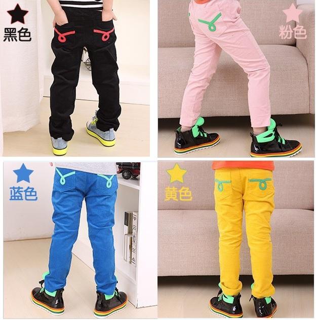 2013 Free Shipping Corduroy Girl's Trousers Boys Pant Children's Casual Pants Kids Leisure Pants Girls Leggings F827(China (Mainland))