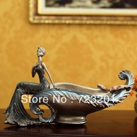 Fashion decoration royal classical beauty fruit plate wedding gift tray tea table decoration