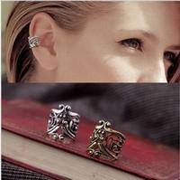Fashion U Shape Hollow Out Clip Earring  Flower Ear Cuff Retro PUNK No piece for women and men  E-095