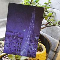 8 pcs/lot Free Shipping Night Paris Eiffel Postcard Greeting Mini Cards Gift Thank You Note Lomo Card Christmas Postcards #201