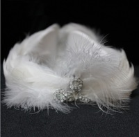 Classic white swan feather hair accessory stage performance headband ballet dance accessories free shipping