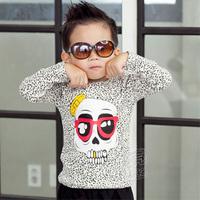 2013 autumn skull clothing boys girls child long-sleeve T-shirt tx-1399 basic shirt