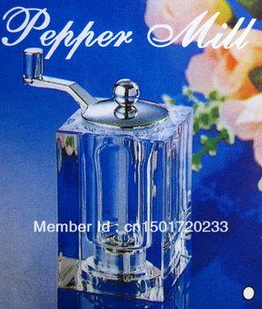 1pcs Chili  PEPPER mill set  container clear machine Fine handwork