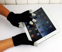 2013 Touch Gloves with Plastic bags Screen itouch Magic gloves ipad tablet Pure 6 colors Winter warm Unisex Dropship