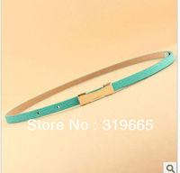 Free Shipping Fashion female  belt  Candy Adjustable Pigskin Leather Ladies Slender Belt