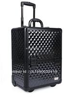 Cosmetic box professional black rod tools storage box Large nail art box