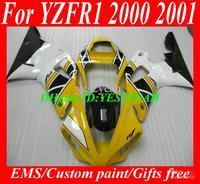 Wholesale - 7 gifts!!! Custom Fairing kit for 2000 2001 YAMAHA YZFR1 00-01 YZF R1 YZF-R1 YZR1000 00 01 yellow white blk Motorcyc