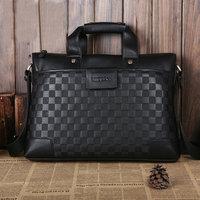 2013 factory direct men's leather wallet&Hot new male package&Designer handbag&Shoulder diagonal bag&Black checkerboard bag