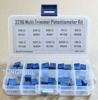 NEW 100 to 1M ohm 3296 Multiturn Trimming Potentiometer Kit