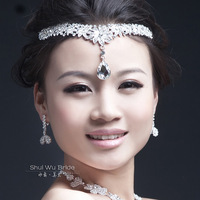 Flower the bride hair accessory the wedding hair accessory wedding accessories silver rhinestone