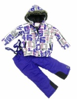 Children ski suit set female child outdoor jacket outdoor waterproof windproof cold twinset