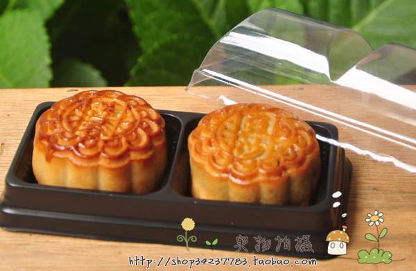 Grátis frete preto caixa de bolo da lua caixa de lanche oeste bandejas de bolo da lua caixa de presente 10 5(China (Mainland))