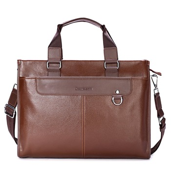 Fashion cowhide man bag male handbag messenger bag laptop bag briefcase