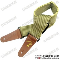 Yellow twill Guitar Strap Adjustable Comfortable Acoustic Electric Folk Bass Guitar,Leather Head Guitar Strap Free Shipping