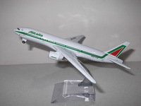 Free shipping!! NEW 1:400 16CM METAL B777-200 ALITALIA AIRLINES Retail&Wholesale Plane model toy plane airplane