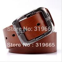 2014 Free Shipping Men's belt  Fashion brand pin buckle mens jeans trouser belt genuine leather belts for men