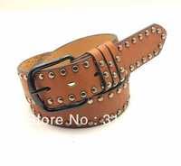 2014 Fashion belt  All-match Rivet Leather Belt For Men And Women Waist Belts Kc4-8 Free Shipping