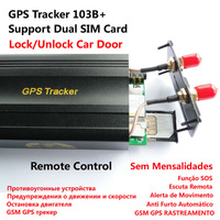 Newest Vehicle Car GPS Tracker 103B+ Support Remote control , Open & Close the door via cell phone Anti theft Blocker Rastreador