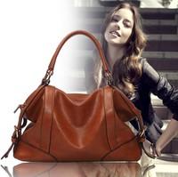 New Arrival 2013 fashion leather bag vintage handbag brand design multifunctional women messenger bag, original design totes