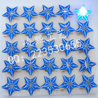 Five-pointed star flash brooch led brooch corsage xiongpai led flasher badge props