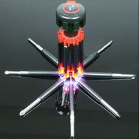 8 1 multifunctional screwdriver set cross head screwdriver 6 led lighting