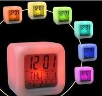 Colorful lights quadripartite decompression clock colorful alarm clock advertising gift promotional logo