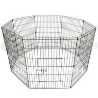 "24"" 8 Panel Playpen Pet Dog Exercise Cage Enclosure"