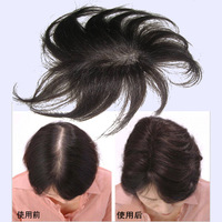 Wig hair piece female full hand-woven real hair