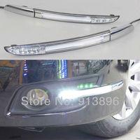 Car LED DRL FOG light for Nissan Teana 2008 09 daytime running light fog lamp 3 LED with light bar kit 1pair/lot