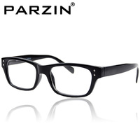 Parzin Vintage Plain Glasses Plain Mirror Fashion Rivets Design Glasses Frame  Black Tiger