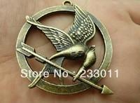 Min. order is $8(mix order)Vintage Pendant,Antique Bronze Bird Charm,Antique Charm,Free Shipping!