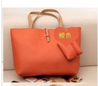 Special Offer!2012 Hot Selling PU Lady's Fashion Simple Handbag Classic Design black colour women shoulder bag Free shippingY027