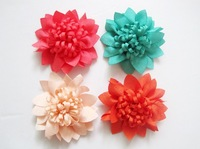 Free Shipping mix color Chiffon Flowers DIY Fabric Flower For Baby Headband Girl's Hair Accessories Handmade Flower FFCD02010