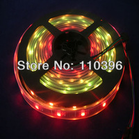 Christmas Decoration Dc 5v Black Pcb 32 LEDs/m 5050 rgb silicone tube Waterproof 32pixel/m addressable Ws2801 LED Strip