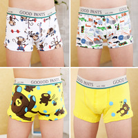 Free Shipping Hot Selling 100% Cotton Cartoon Children Panties Boy Trunk Sweat Absorbing Antibiotic Panties Kid's Underwear