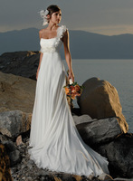 2013 small train wedding dress high waist maternity lace up one shoulder wedding dress formal dress