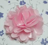 Free Shipping mix color 2'' Chiffon Flowers DIY Fabric Flower Baby Headband Girl's Hair Accessories Handmade Flower FFCD01009